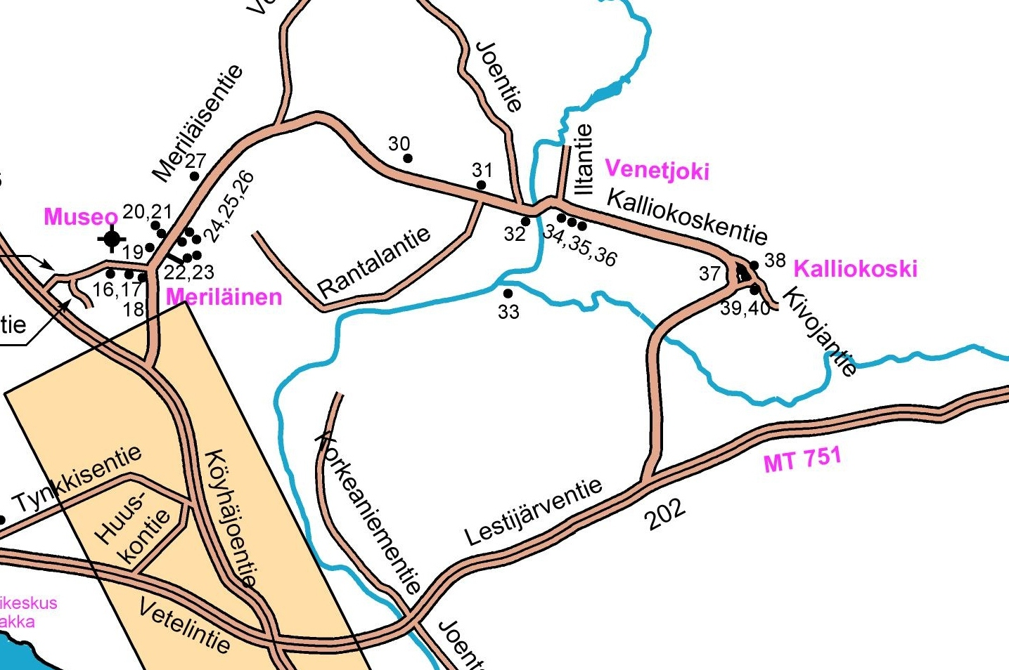 Kalliokosken kartta