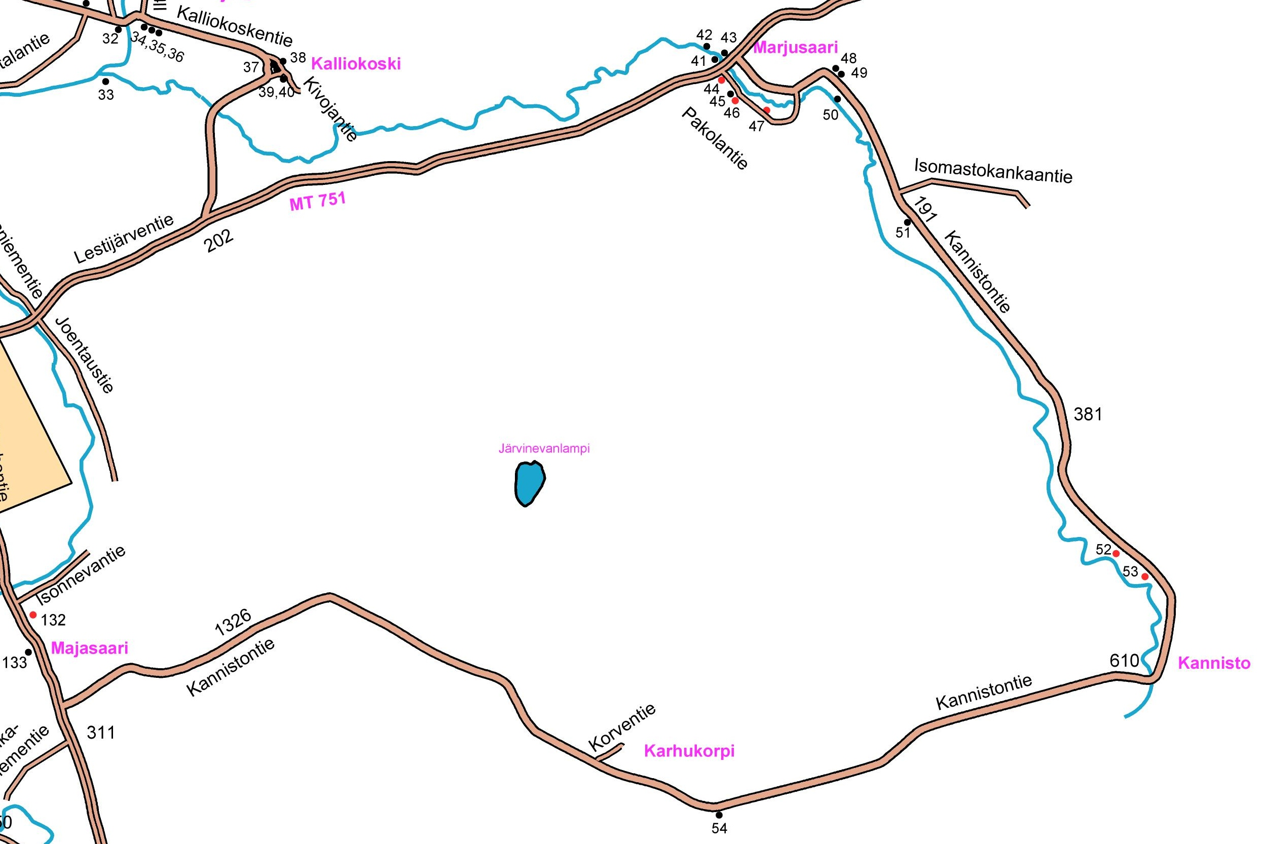 Marjusaaren kartta